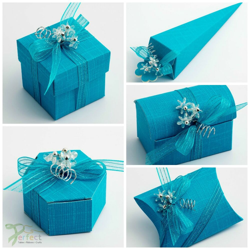 Luxury DIY Wedding Party Favour Gift Boxes Turquoise