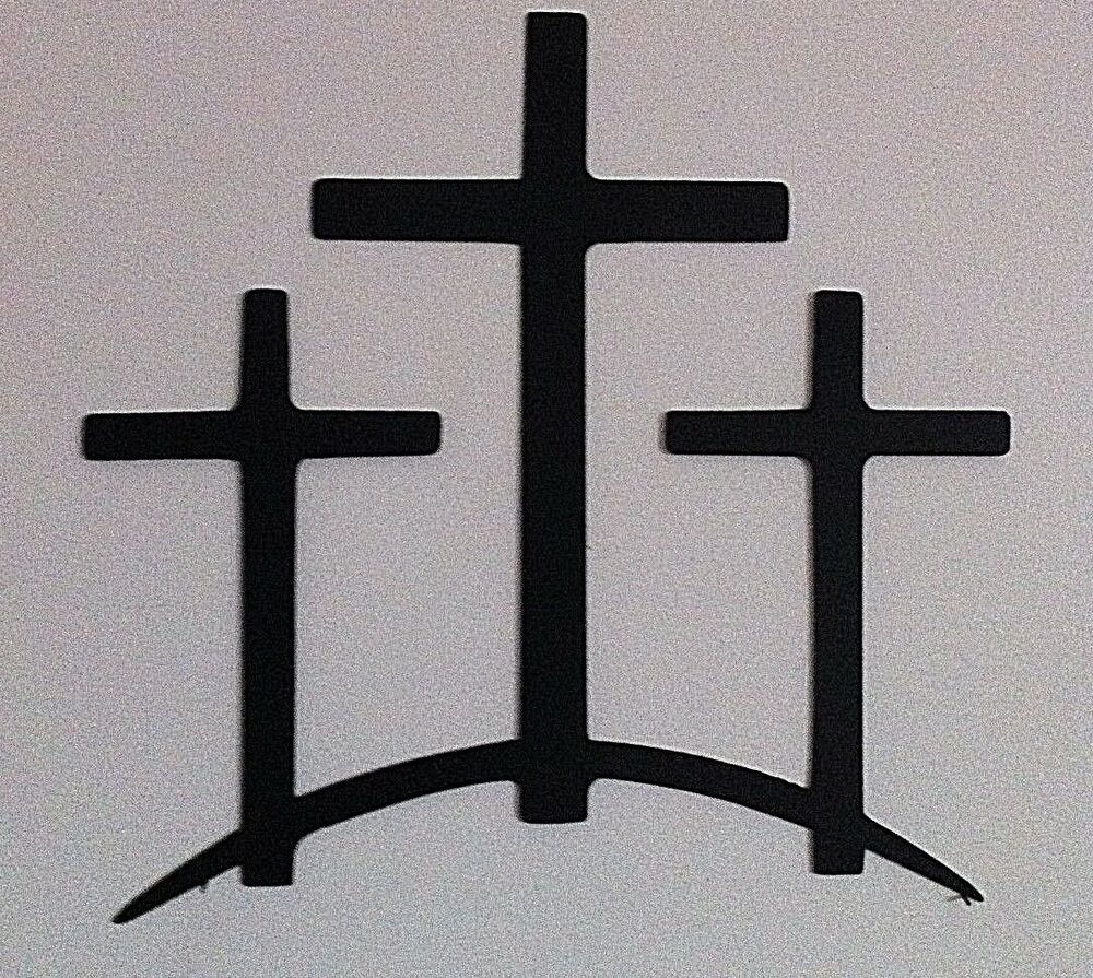 Metal Trinity Crosses Wall Decor Trinity Cross Hand