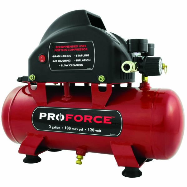 Pro-force 2-gallon Hot Dog Air Compressor With Inflation Kit