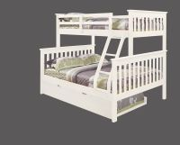 TWIN OVER FULL KID'S BUNK BED W/ TRUNDLE AND/OR TENT ...