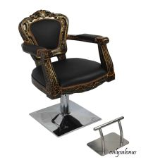 BARBER CHAIR STYLING STYLE SALON ANTIQUE HYDRAULIC BEAUTY ...