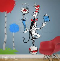 Children Wall Decal Wall Sticker Dr seuss Character the ...
