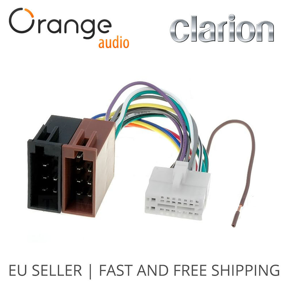 hight resolution of clarion 16 pin to iso lead wiring loom power adaptor wire radio connector 796551152069 ebay