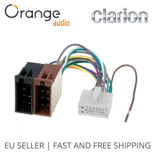 small resolution of clarion 16 pin to iso lead wiring loom power adaptor wire radio connector 796551152069 ebay