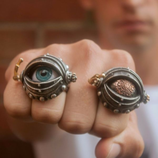 Genuine Alchemy Gothic Ring - Automation' Eye Unisex