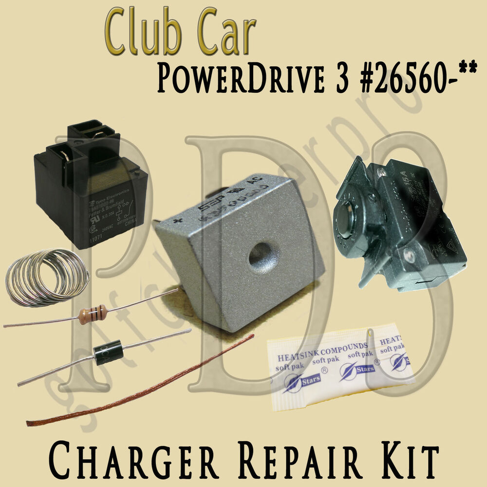 hight resolution of club car powerdrive 3 26560 48 volt golf cart battery charger repair kit ebay