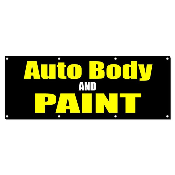 Auto Body And Paint Car Repair Sign Banner 4' X