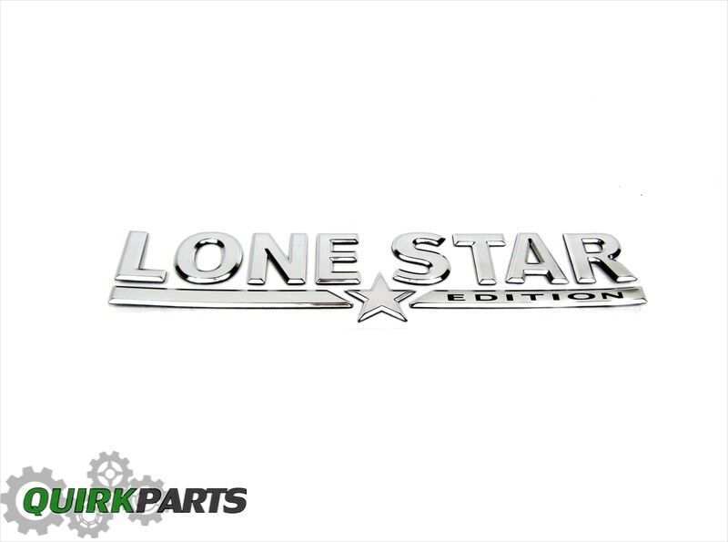 05-07 Dodge Ram 1500 2500 3500 Chrome LONESTAR Emblem