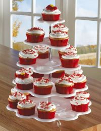 5 Tiered Tower White Cupcake Holder Stand 5 Tier Cupcake ...
