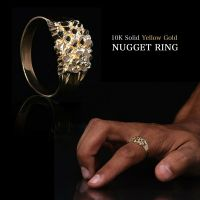 Mens 10KT Gold Nugget Ring Heavy 4.0 Grams in Size 11