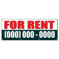 FOR RENT Custom Phone Number 2 ft x 4 ft Banner Sign w/4 ...
