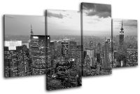 New York NYC Skyline City MULTI CANVAS WALL ART Picture ...