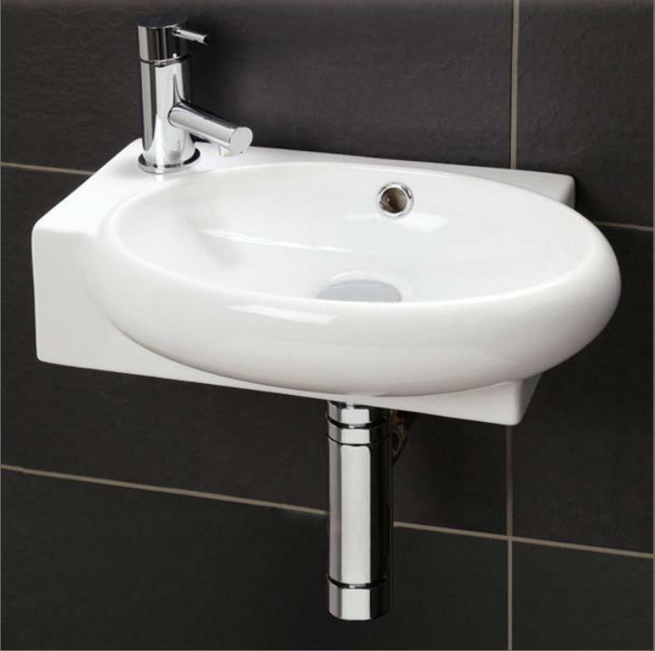 Small Compact Cloakroom Basin Bathroom Sink Round Square