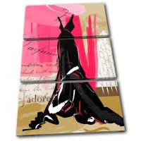 Abstract Dress Fashion TREBLE CANVAS WALL ART Picture ...