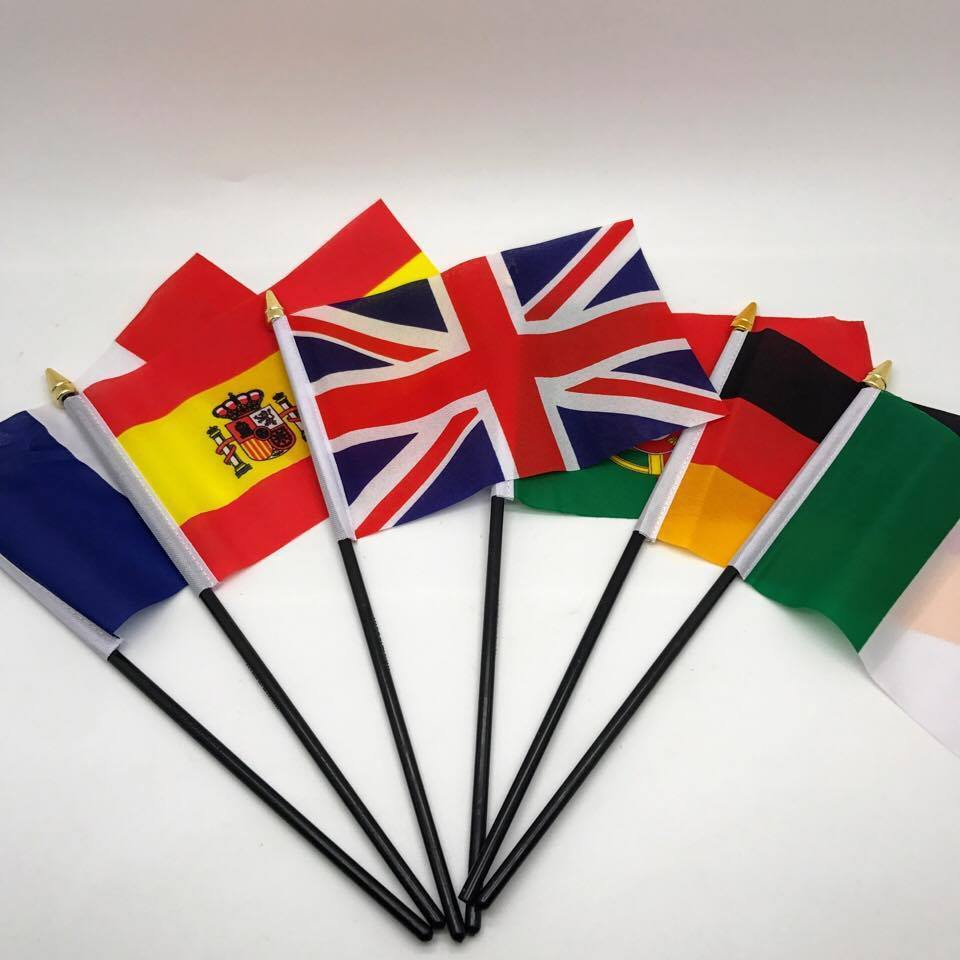 Table Desk Top Flag EUROPE Flags ALL COUNTRIES Without