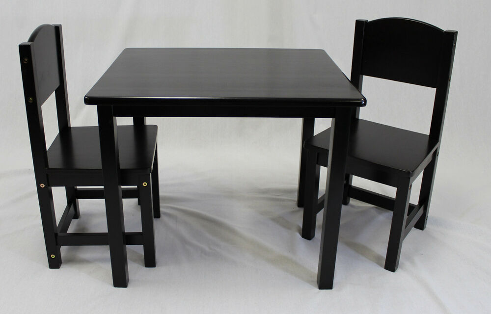 Kids Table And Panel Back Chair Set