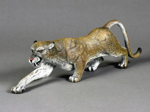 Awesome Bronze Cougar Sculpture by Barry Stein Mountain Lion Signed Limited Edit eBay