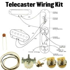 3way Switch Wiring Diagram Dusk To Dawn Light Telecaster Kit Cts 250k Crl .033 Cloth Wire Switchcraft Jack 685646944187 | Ebay