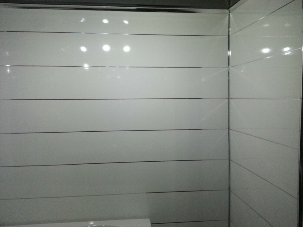 8 white metallic panels bathroom ceiling panels shower