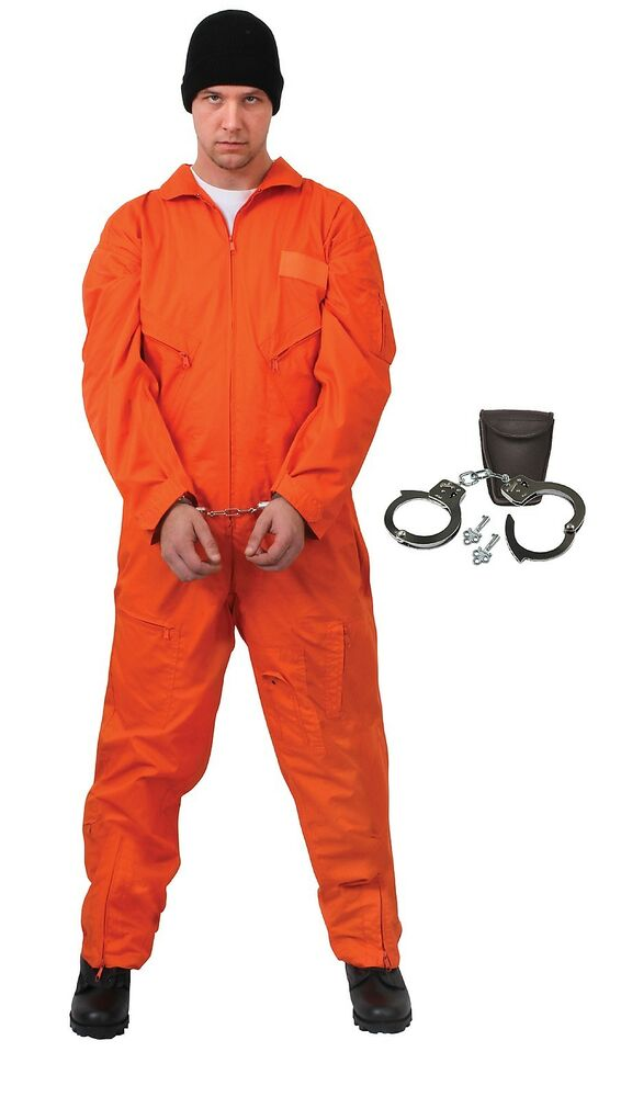 Adults Inmate Prisoner Halloween Costume Convicts