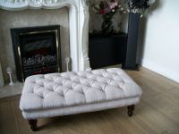 Chesterfield Oxford Deep Buttoned Large Footstool / Coffee