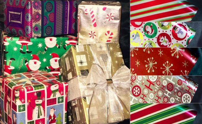 Wrapping Paper Roll Wrap Holiday Christmas Gift Wrapping Paper Many Designs Ebay