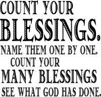 Count your Blessings Bible Quote wall Vinyl decal   eBay
