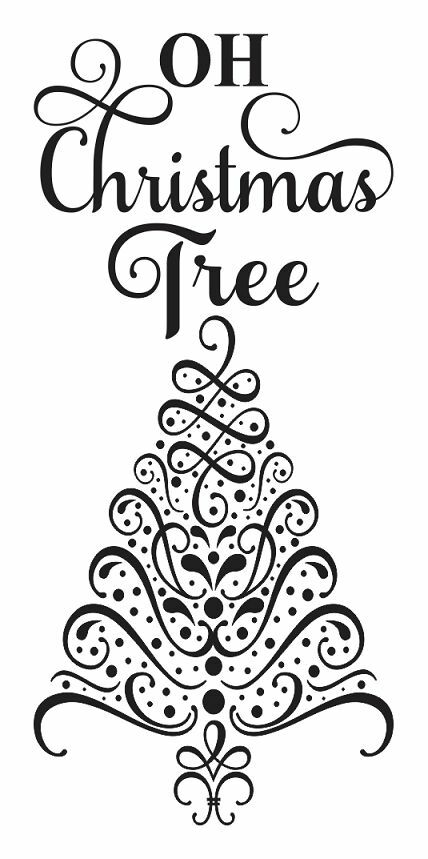 Christmas/Holiday STENCIL*Oh Christmas Tree* 12x24 for