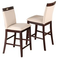 "2 pc Dining High Counter Height Side Chair Bar Stool 24""H ..."