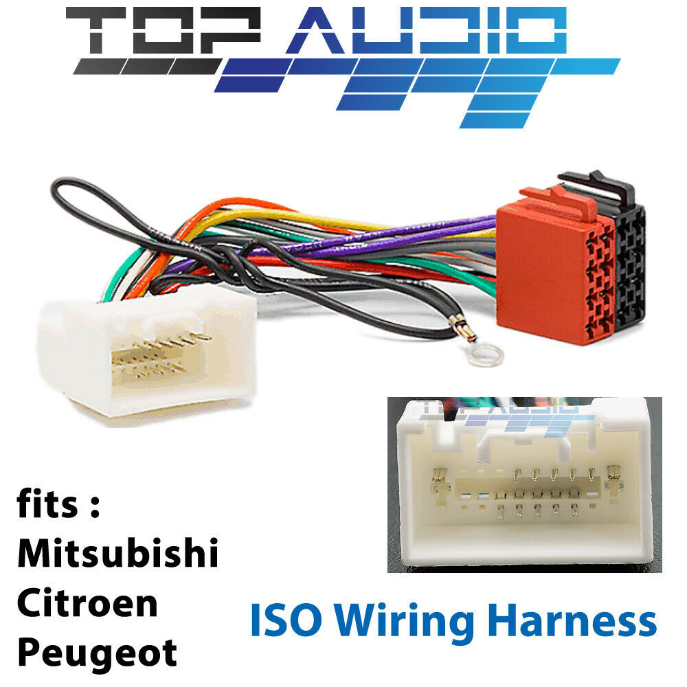 medium resolution of details about mitsubishi lancer cj iso wiring harness adaptor cable connector lead loom wire