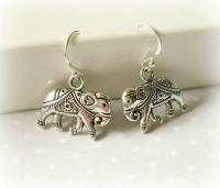 925 Sterling Silver Hook Earrings With Antique Finish ...
