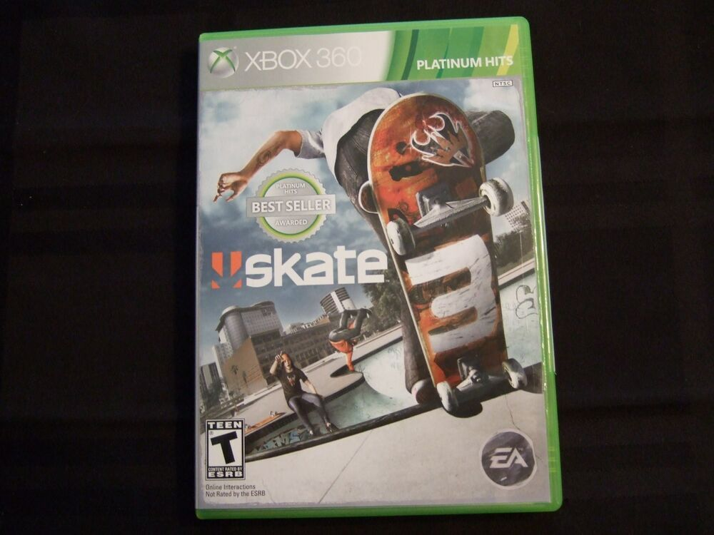 Replacement Case NO GAME SKATE 3 XBOX 360 EBay