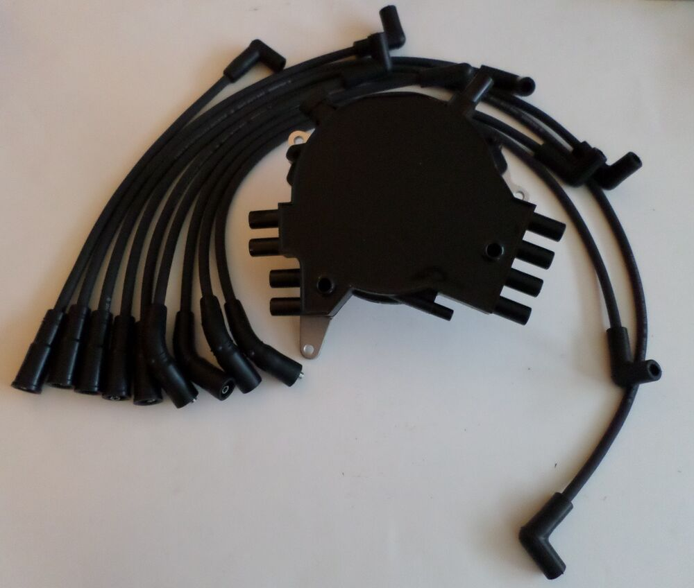 hight resolution of chevy caprice impala 94 96 lt1 5 7l optispark distributor black spark plug wire