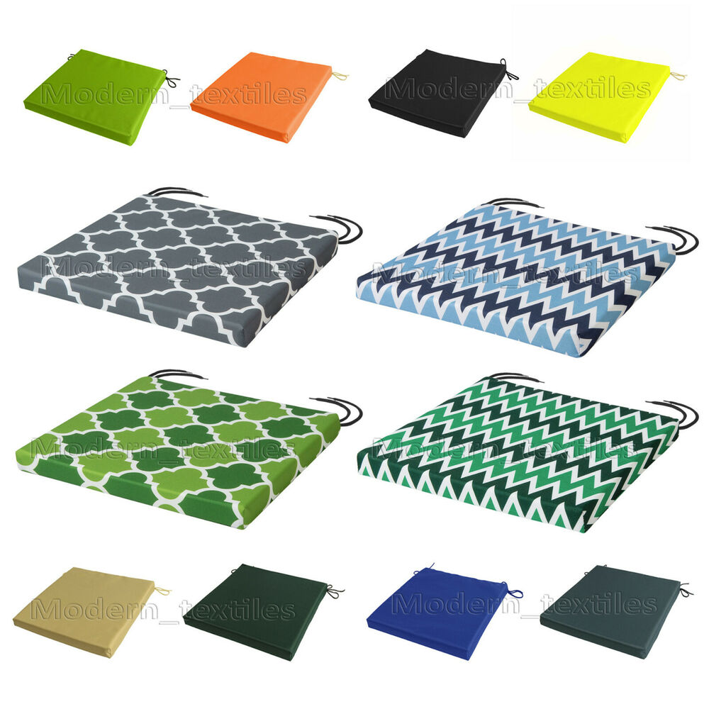 Patio Chair Cushions Cheap Waterproof Chair Cushion Seat Pads Removable Cover Patio Tie On Garden Outdoor Ebay