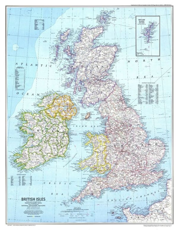 Great Britain Map GBM01 Giant Large Wall Art Pic Poster A1