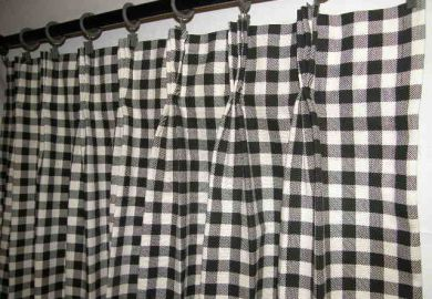 B62742 Pinch Pleated Cafe Curtains
