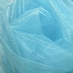 Faux Leather Sofa Deals Most Comfortable For Family Room A21 (per Meter) Sky Blue Crystal Mirror Organza Darpping ...