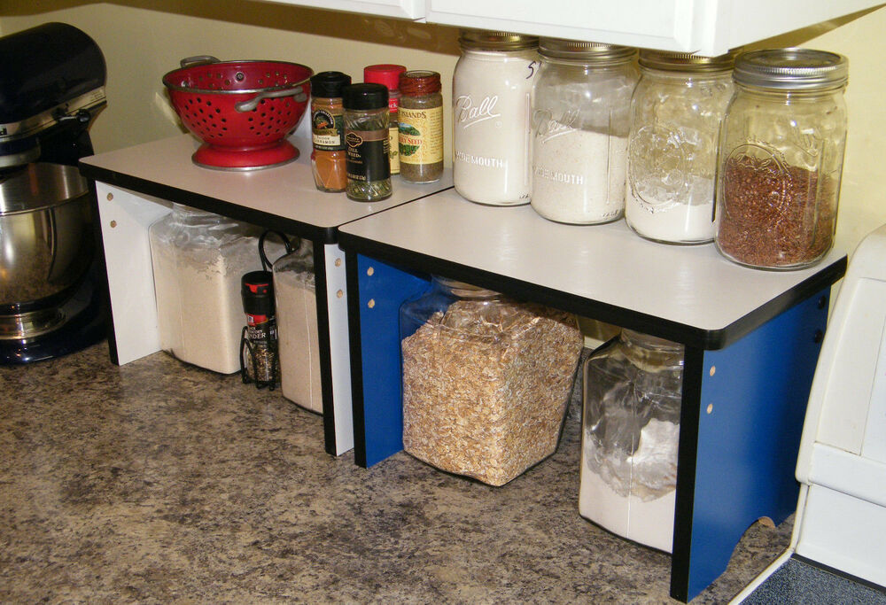 Kitchen Counter Shelves Shelf Organizer Wood Storage