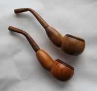 ROUND PIPES Set 2 Tobacco Smoking Pipe Wooden Ukrainian ...
