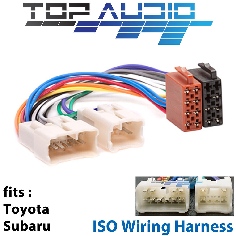 Toyota 16842 Wiring Harness Auto Electrical Diagram Iso Stereo Radio Plug Lead Wire Loom