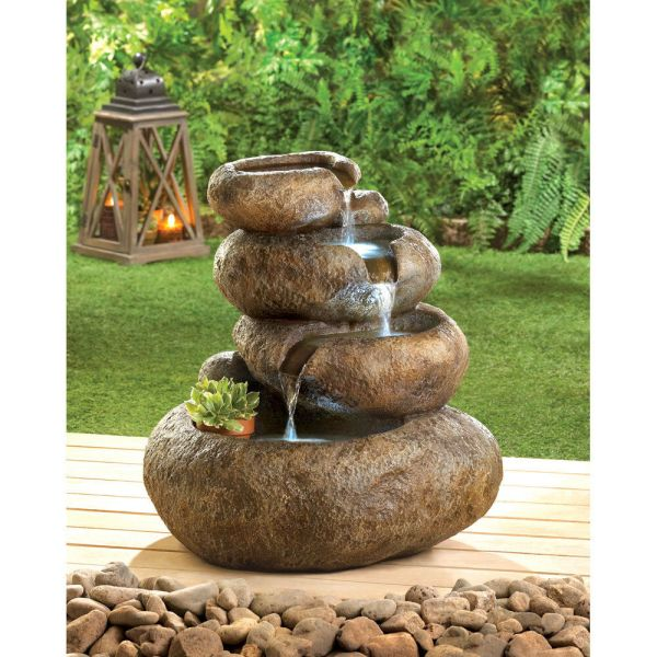 Natural Balance Led Light Electric Water Fountain Garden