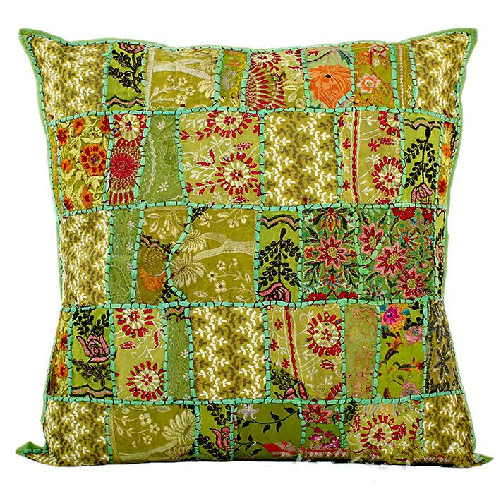 "Green 24x24"" Xl Decorative Throw Pillows For Couch, Bed"