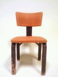 Vintage Mid Century Danish Modern Chair Office Wood Thonet ...
