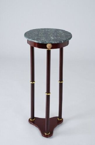 Plant Stand Side Table Green Marble Top And Cherry Finish Wood Base EBay