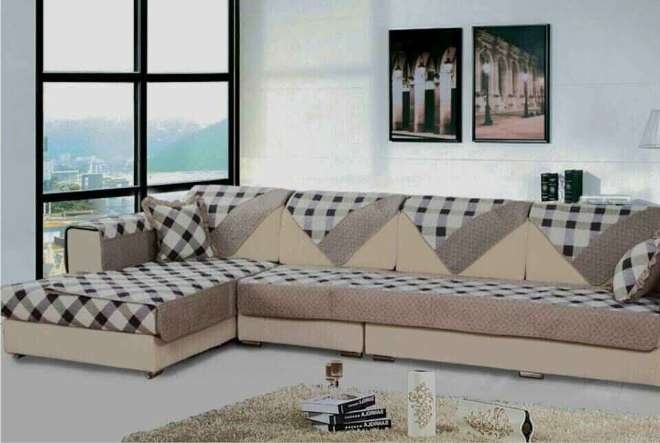 Quilted MicroFiber Custom Sectional Sofa Couch Slipcovers Furniture Protector EBay