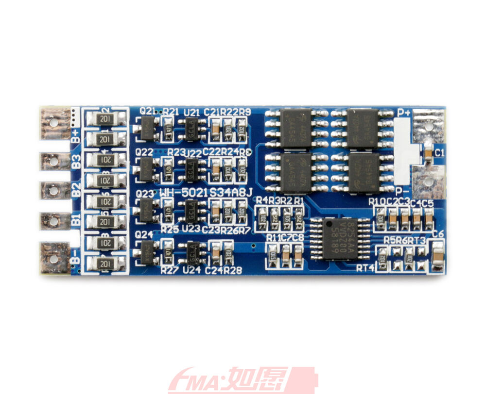PCM Protection Circuit Balance BMS 8A For 4S 14.8V Li-ion