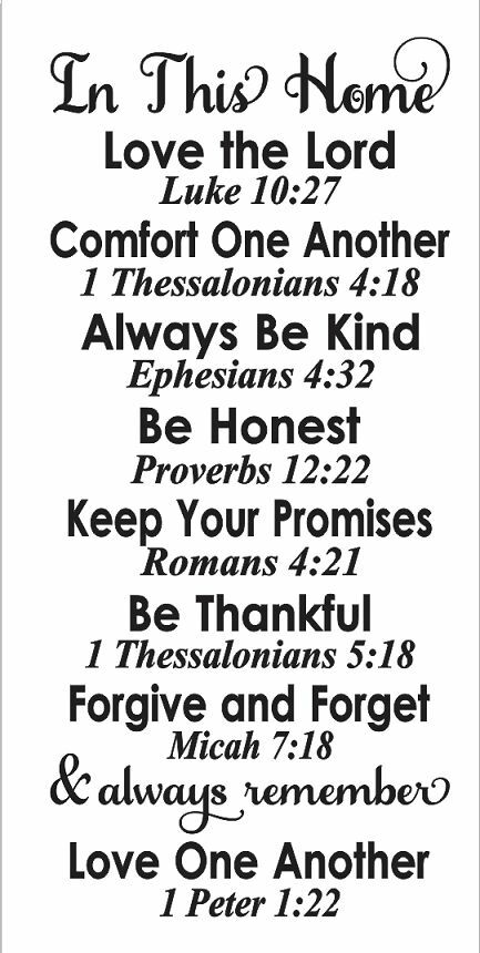 Primitive STENCIL**In This Home**Bible Verse Family Rules