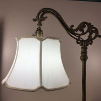 Bridge Floor Lamp Shade V Notch for Antique Lamp Tailor ...