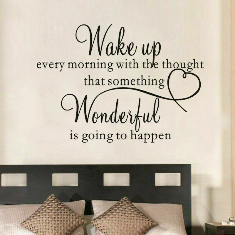 heart family Wonderful bedroom Quote Wall Stickers Art Room Removable Decals DIY  eBay