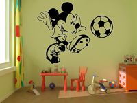 Mickey Mouse Football Kids Disney Wall Stickers Art room ...